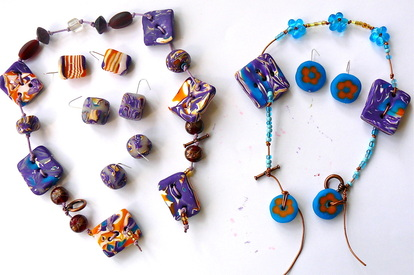 FIMO - neckless& earings